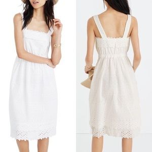 Madewell NWT white midi lace dress size 6